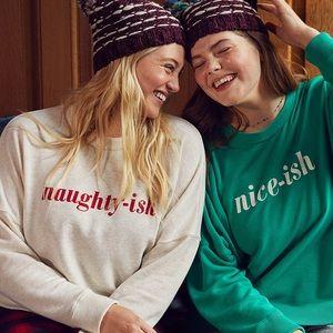 Arise Naughty-ish Christmas holiday sweatshirt, M